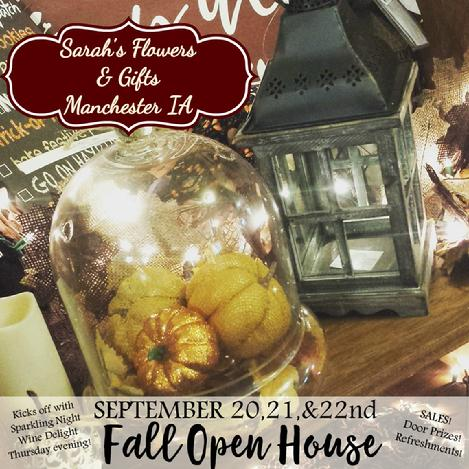 Fall Open House, Sarah's Flowers & Gifts, Florist Gift Shop Manchester HUGE gift shop  places to shop Manchester Real Great Fun Deal Deals florist gift pumpkin fall crafts craft show