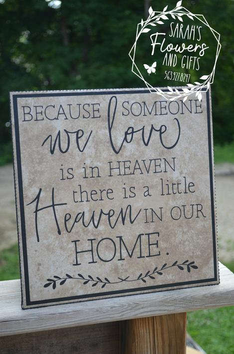 Ceramic memorial tile suitable for gift giving for wakes and funerals Leonard Muller Funeral Home & Bohnenkamp Murdoch Funeral Home