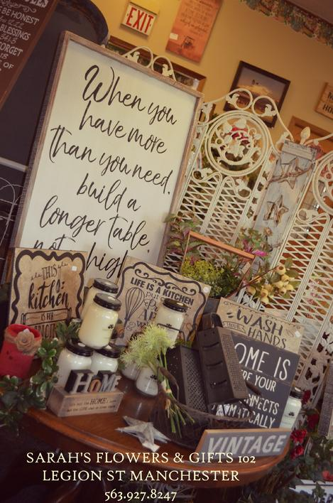 Signs pallet signs wood signs farmhouse style real store fresh flowers gift shop fixer upper handmade manchester iowa white water park
