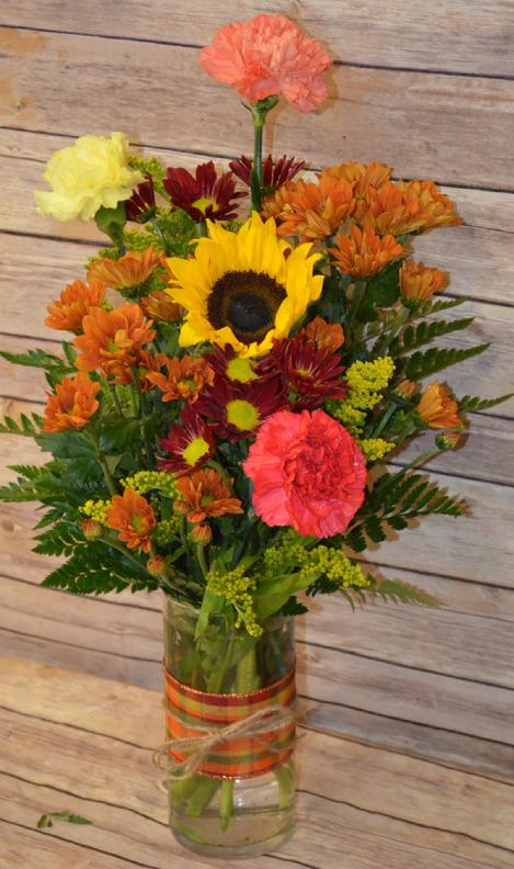 fall fresh cuts flowers fall flowers mum fixer upper mason jars jars flower jars manchester iowa florist posy place sues flower and garden center flower delivery manchester iowa