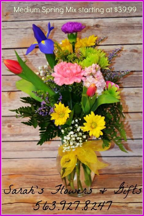 Fresh Flowers Baskets Vases Manchester Iowa Florist Delivery
