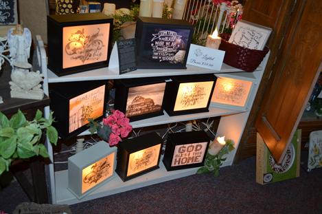 Lighted Boxes with verses, Jada Venia, Boxes that light up for funerals, Leonard Muller Funeral Home, Bohnenkamp-Murdoch Funeral Homes , Because someone we love is in heaven, there's a bit of heaven in our home.