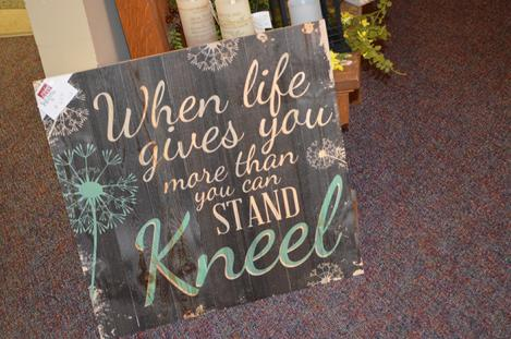 When life gives you more than you can stand, kneel. Flower Shop Manchester Iowa Flowers 52057