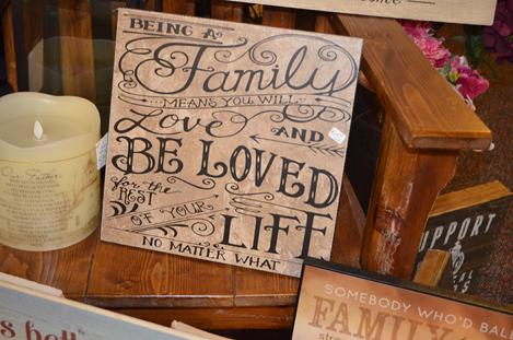 Tiles, handmade tiles with easel backs, family plaque, Manchester Iowa gift shop