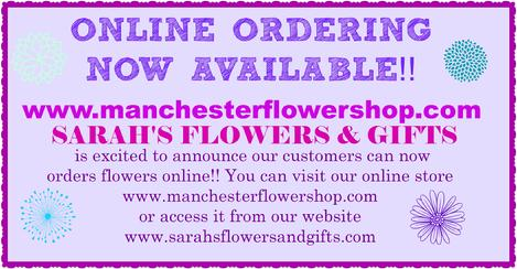 Sarahs flowers gifts your local manchester iowa florist 1 877 sarahs flowers gifts negle Images