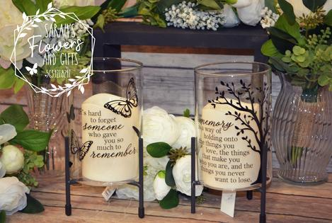 Lanterns for memorials at Leonard Muller Funeral Home or Bohenkamp Murdoch Funeral Home Manchester Iowa