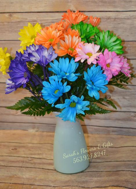 Crazy Daisy Bright Beautiful fresh flowers Manchester IA florist flowers Manchester iowa 52057